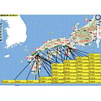 PHS端末位置経路情報図